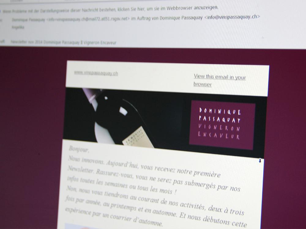 schéma type pour courrier électronique et Newsletter