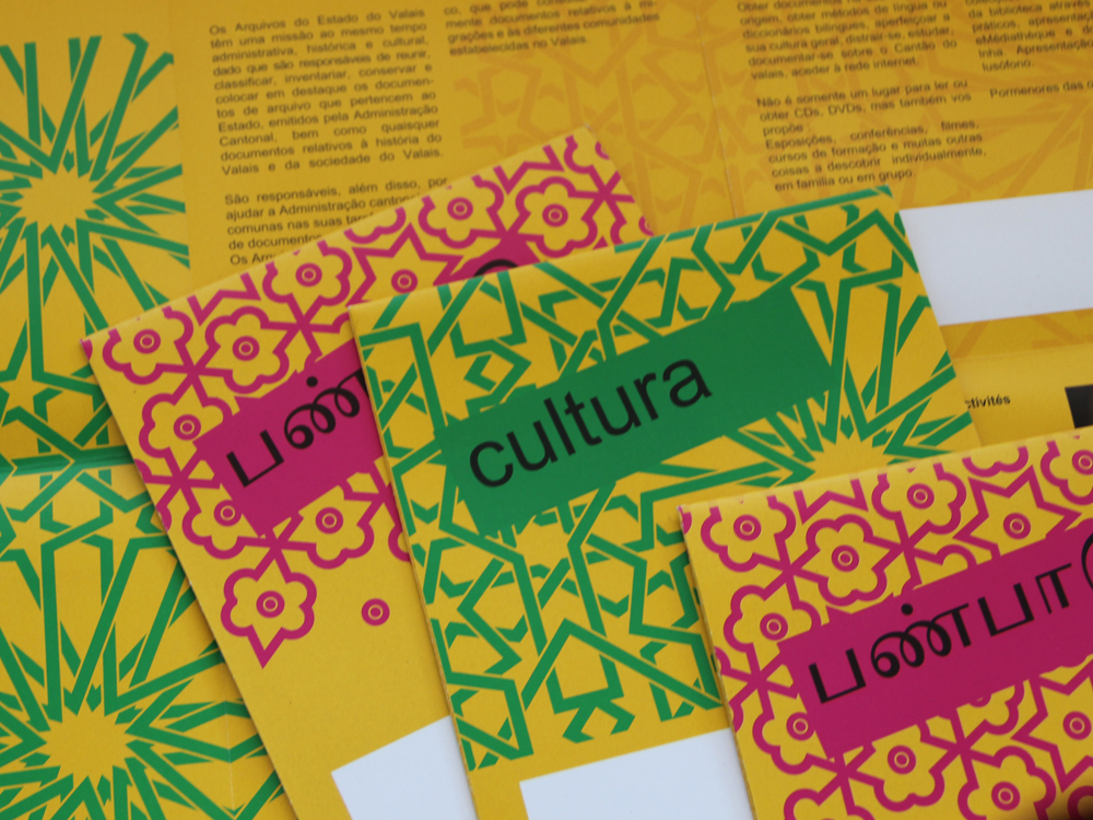 Konzept Flyer, Kulturangebot Sitten